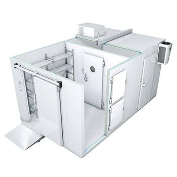 تصویر نمای سه بعدی سردخانه