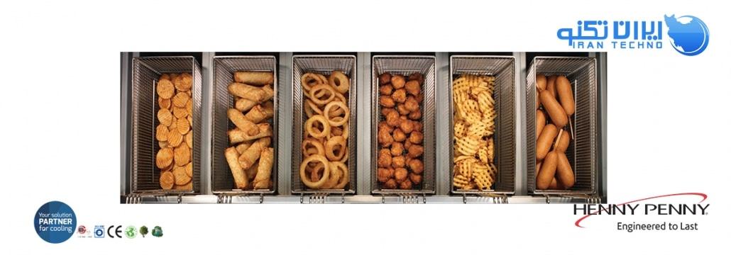 تصاویر مواد غذایی مختلف سوخاری شده در دستگاه سرخ کن مرغ سوخاری هنی پنی